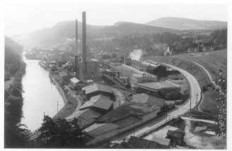 Papierfabrik in Větřní in 1930.